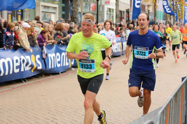 Bijna bij de finish. Foto: Simon Blaauw