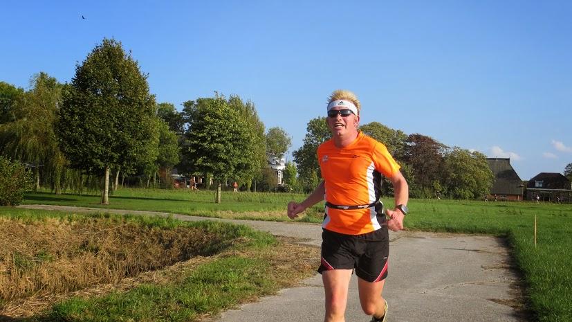 Na 7 kilometer. Foto: Thesinge Run-organisatie