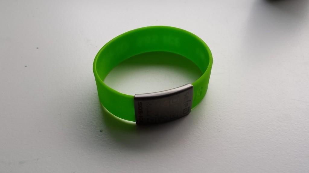 Safe-ID-bandje met plaatje (met QR-code)