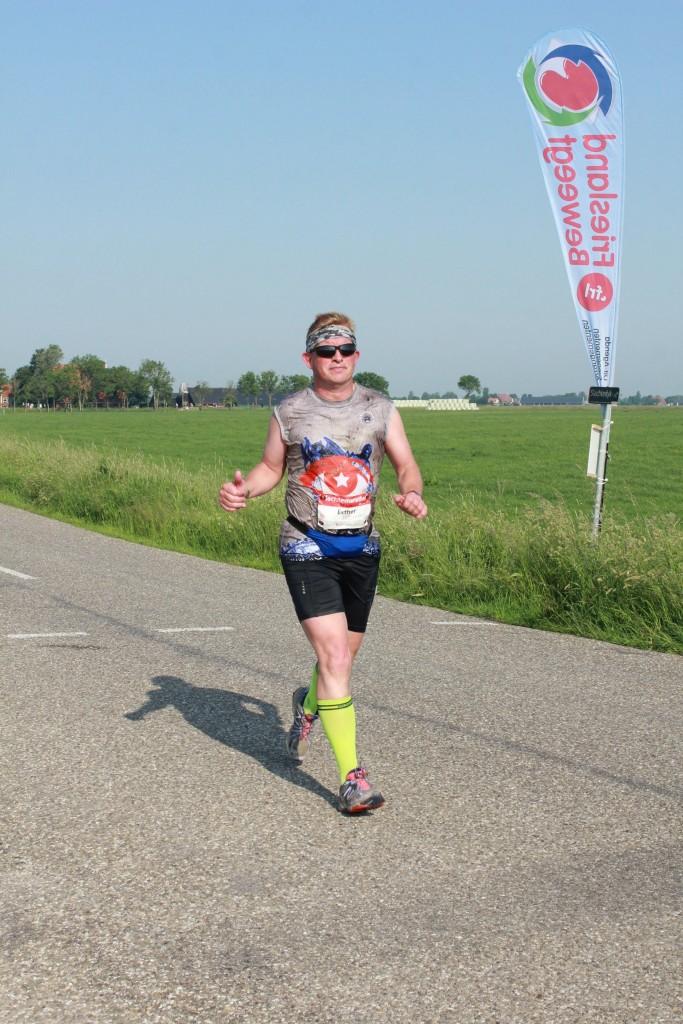 Na zo'n 23 kilometer. Foto: Stichting Friesland Beweegt
