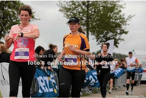 Esther bij de finish.