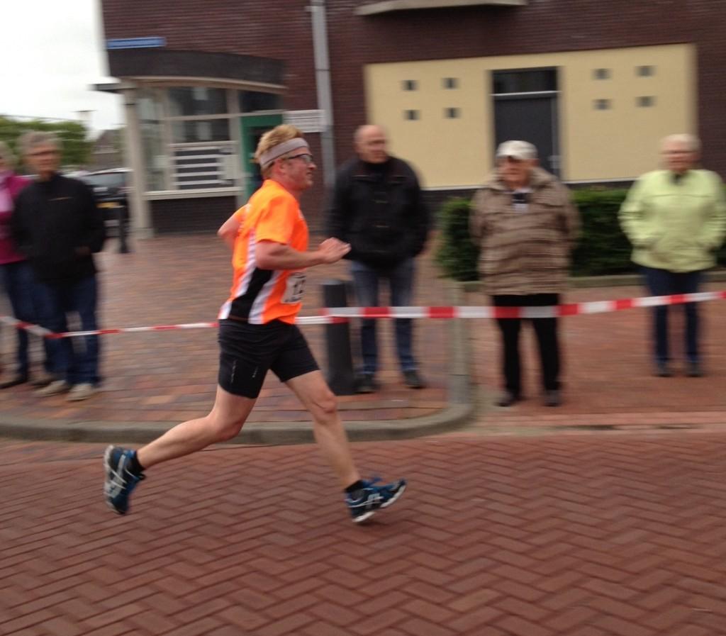De finish in zicht. Foto: Lisa van Os