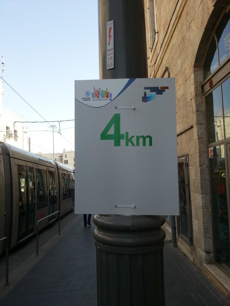 4km-punt van de 10km