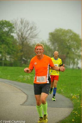 In de laatste kilometers. Foto: Henk Cruiming