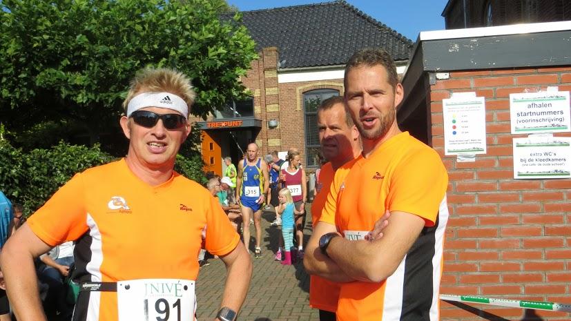 Voor de start met Jaap en Johan. Foto: Stoffer Havinga