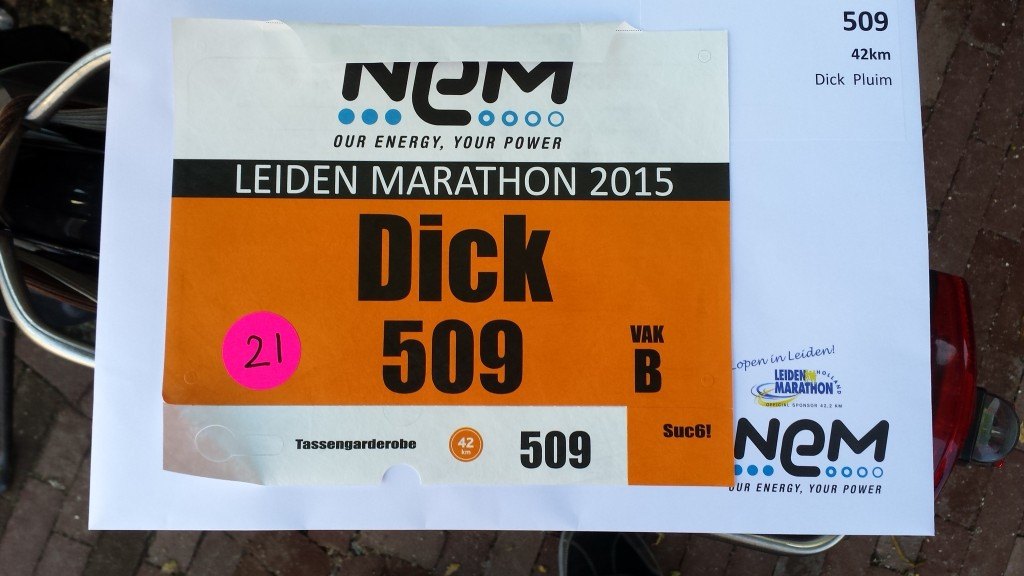 Belabberde maar gezellige halve marathon in Leiden