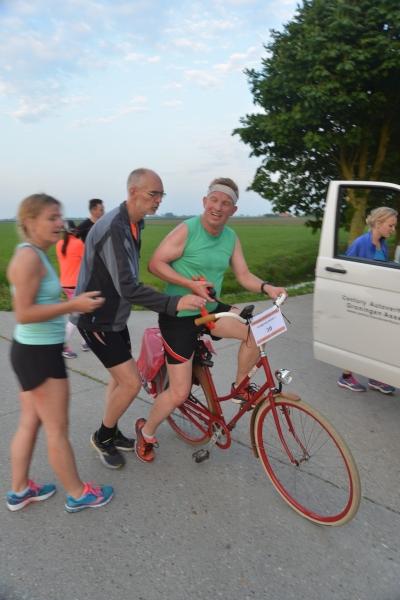 Wissel van lopen naar fietsen